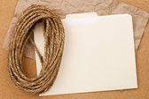 Rope and Folder — Stock Photo