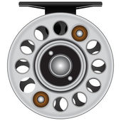 Fly fishing reel — Vettoriale Stock
