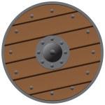 Wooden shield — Stock Vector #25206601