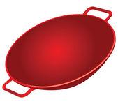 Litinový wok — Stock vektor