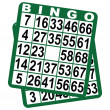 Bingo game cards — Stok Vektör