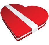 Kırmızı şeker kutusu — Stok Vektör