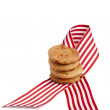 Ribbon with cookies — Stock Photo #26842271