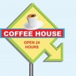 Знак кафе — Cтоковый вектор