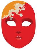 Flag of Bhutan on the mask — Stock Vector