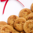 Ribbon with cookies — Stock Photo