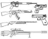 Armes à feu — Vecteur
