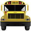 School bus front — Stock Vector