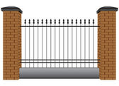 Section of the fence — Stock Vector
