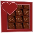 Chocolates in a box — Imagen vectorial