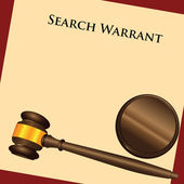 Search Warrant — Stock Vector