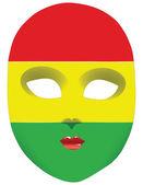 Флаг Боливии маска — Cтоковый вектор