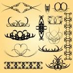 Calligraphy ornament — Stock Vector