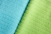Due asciugamani di spugna di colore — Foto Stock