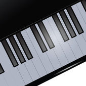 Piano keyboard — Stockvector