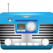 Retro radio — Stock Vector