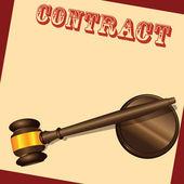 Contract Document — Stock Vector