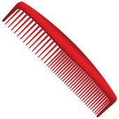 Men red comb — Stock Vector