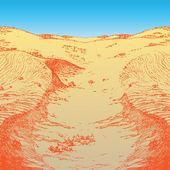 Desert afternoon — Stock Vector