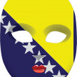 Bosnia and Herzegovina mask — Stock Vector