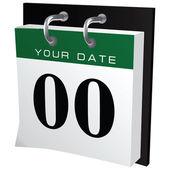 Office calendar — Stock Vector
