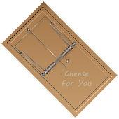 Piège à souris - fromage pour vous — Vecteur