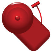 Red alarm bell — Stock Vector