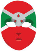Burundi mask — Stock Vector
