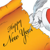 Happy New Year on parchment — Stock vektor