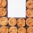 Background from cookies — Stock Photo