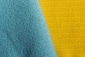 Dvě barevné froté ručníky — Stock fotografie