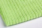Green terry towel — Stock Photo