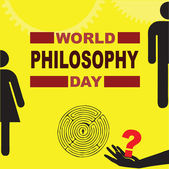 World Philosophy Day — Stock Vector
