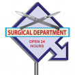 Sign surgical Department — Stock Vector