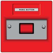 Botón de pánico — Vector de stock
