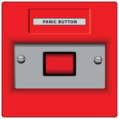 Panic Button — Vector de stock