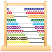 Classic Wooden Abacus — Stock Vector