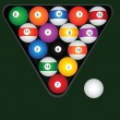 Billiard balls set — Stock Vector