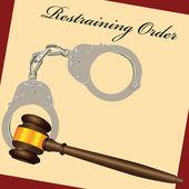 Restraining Order — Stock Vector