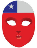 Chile mask — Stock Vector