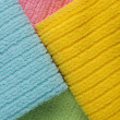 Four colored terry towels — Stock Photo