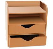 Office shelves Organizer — Stock Vector