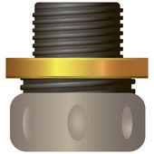 сжатие fit шланга ремонт — Cтоковый вектор