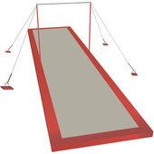 Sports horizontal bar — Stockvector