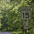 Speed limit of fifteen — Stock Photo