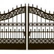 Openwork Steel Gate — Stock Vector