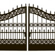 Stock Vector: Openwork Steel Gate