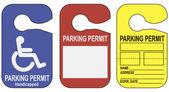 Set parking permits — Stock Vector
