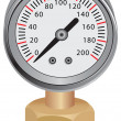 Stock Vector: Water Pressure Gauge