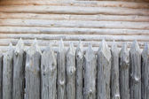Medieval stockade — Stock Photo
